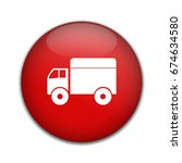delivery truck icon. | Shutterstock .eps vector #674634580