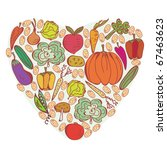 heart of vegetables symbol | Shutterstock .eps vector #67463623
