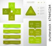 vector circle infographic set.... | Shutterstock .eps vector #674641264