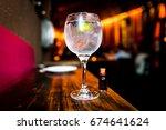 gin tonic beverage | Shutterstock . vector #674641624