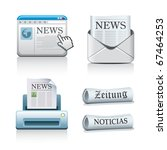 newspaper icons | Shutterstock .eps vector #67464253