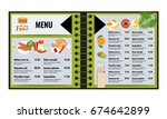 restaurant or cafe menu vector... | Shutterstock .eps vector #674642899