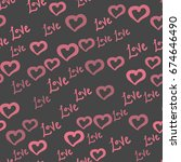 love all over print. seamless... | Shutterstock .eps vector #674646490