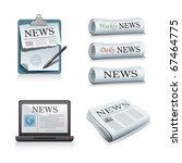 newspaper illustrations | Shutterstock .eps vector #67464775