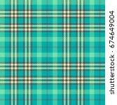 seamless tartan vector pattern | Shutterstock .eps vector #674649004