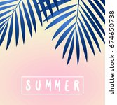 retro typographic summer design ... | Shutterstock .eps vector #674650738