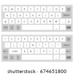 english keyboard | Shutterstock .eps vector #674651800