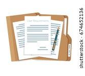 user requirements... | Shutterstock .eps vector #674652136