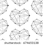 heart pattern   Shutterstock .eps vector #674653138