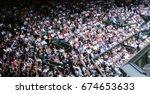 Blurred Crowd Spectators...