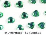 rhinestone background. heart... | Shutterstock . vector #674658688