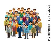 male community vector concept... | Shutterstock .eps vector #674662924