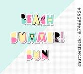 retro typographic summer design ... | Shutterstock .eps vector #674665924