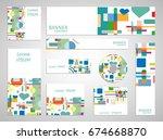 set of web banner templates for ... | Shutterstock .eps vector #674668870