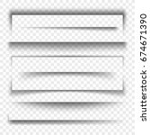 paper banner and dividers... | Shutterstock .eps vector #674671390