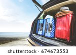 car and trunk  | Shutterstock . vector #674673553