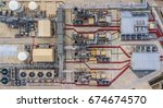 aerial view electrical power... | Shutterstock . vector #674674570