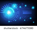 abstract circle technology... | Shutterstock .eps vector #674675380
