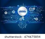hi tech computer technology. ... | Shutterstock .eps vector #674675854