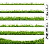 grass frame | Shutterstock . vector #674676310