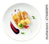 european restaurant breakfast... | Shutterstock . vector #674680894