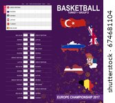 european basketball...   Shutterstock .eps vector #674681104