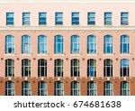 tri color facade with high... | Shutterstock . vector #674681638