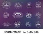 sunburst on starburst element... | Shutterstock . vector #674682436