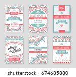 set of raster design awesome... | Shutterstock . vector #674685880