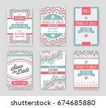 set of raster design awesome... | Shutterstock . vector #674685880