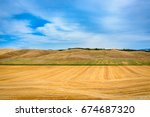 view of a summer day in the... | Shutterstock . vector #674687320