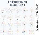 set with infographics. data and ... | Shutterstock .eps vector #674691019