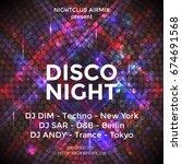 dance party poster vector... | Shutterstock .eps vector #674691568