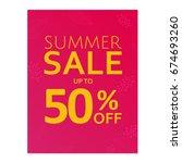 summer sale poster  vector... | Shutterstock .eps vector #674693260