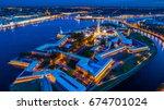 st. petersburg. night city.... | Shutterstock . vector #674701024