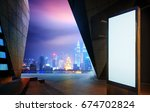 blank advertising billboard at... | Shutterstock . vector #674702824