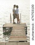 happy couple have fun outdoor... | Shutterstock . vector #674703100