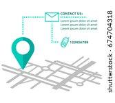 navigator mapping  pin vector... | Shutterstock .eps vector #674704318