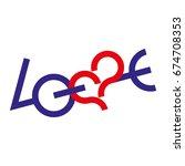 love typography. creative love... | Shutterstock .eps vector #674708353