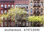 historic old buildings and... | Shutterstock . vector #674713540