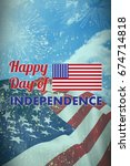 happy independence day text... | Shutterstock . vector #674714818