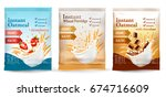 instant porridge advert concept.... | Shutterstock .eps vector #674716609