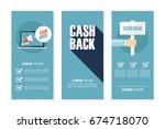 money cash back flyers set for... | Shutterstock .eps vector #674718070