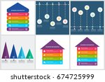 bundle infographics design | Shutterstock .eps vector #674725999