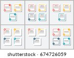 bundle infographics design | Shutterstock .eps vector #674726059