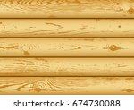 light brown pine log desk grain ... | Shutterstock .eps vector #674730088