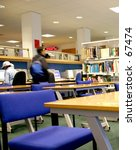 students studying at a library | Shutterstock . vector #67474