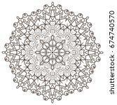 ethnic fractal mandala raster...   Shutterstock . vector #674740570