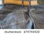 close up of the back of jeans.... | Shutterstock . vector #674743420