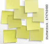 yellow sticky notes. vector... | Shutterstock .eps vector #674743480